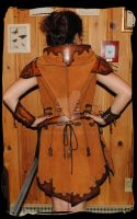 archer leather tunic back view by Lagueuse