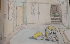 [A3] Derpy and her muffin by Brantonisme