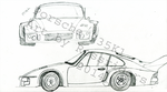 Porsche 935 side and front view by rossriders
