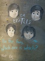 Da Beatles in Chalk by AmmyWolf95