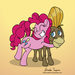 A Pink Pony and Her Donkey Friend - Day 22 by SketchinEtch