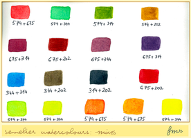 fmr - Sennelier WC Swatches - colour mixing by fmr0