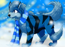 My Blue Arcanine Luffles by BrabbleJaw