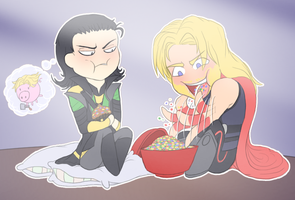 Thor x Loki Chibi mm by Carszl