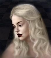 White Queen color by umetnica