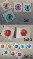 Dragon/Cat Eye Cabochon Stickers by kittykat01