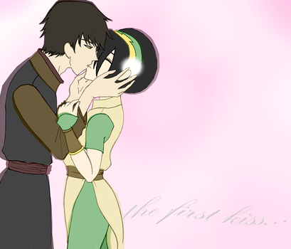 Zuko and Toph's first kiss by jncomplete