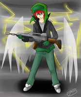 Kyle the gun angel by Timeless-Knight