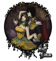 Pumpkin Queen and Vampire King by MissBloodyEyes