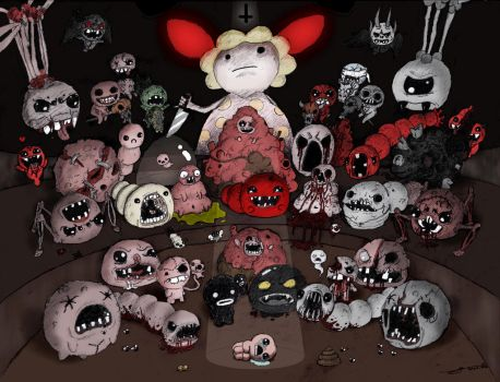 The Binding of Isaac  [ALL BOSSES]  Colored! by jaego17