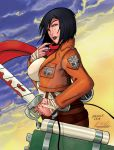 Mikasa Ackerman Attack On Titan colors by 7Caco by Bfetish