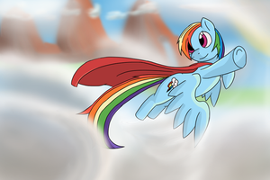 Mighty Mare Rainbow Dash by Necrath