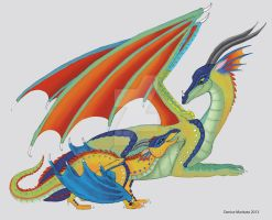 Wings of Fire - Glory and Kinkajou by DMD-CT
