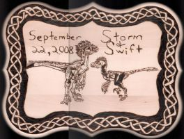 Pyrography:  Storm and Swift by naaxha