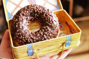 Doughnut in a lunchbox by summergrapes