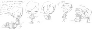 RIN'S MINI SKETCHDUMP OF...cheese by SecretagentG