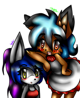 Amelie the linx y Kixy the cat by candycandy-chan