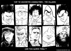 Top 10 favorites villains by Tohad