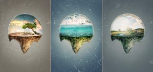 Three simple worlds by Angust