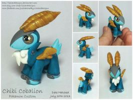 Chibi Cobalion Pokemon Commession by lizzarddesigns