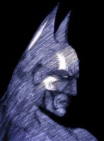 Batman in a pensive mood by manojart