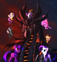 Group Shot Ponyville by Ghostwalker2061