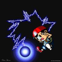 Earthbound/Mother - Ness PSI Thunder by SuperDeano1