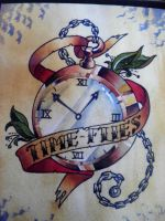 Pocket watch watercolor by Agreus