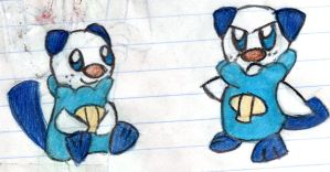 2 doddles of Oshawott by YuiHarunaShinozaki