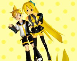 Neru and Len Updated by MagicalFlyingTurtle