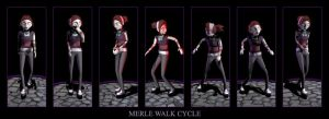 Merle Walk Cycle by latest-disaster