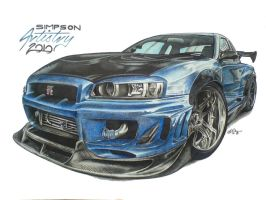 Nissan GT-R by SIMPSONARTISTRY