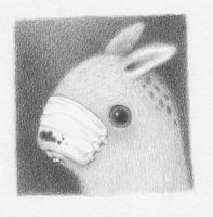 bunny three by reneefrench