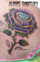 Rose and diamond tattoo by ERASOTRON