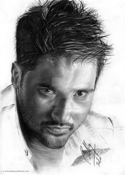 Amrinder Gill Pencil Portrait by Bobby-Sandhu