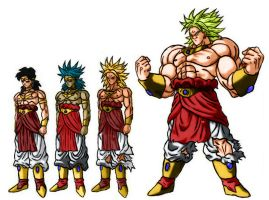 Broly's forms v.1 by sergiopavao