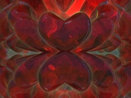 Glassy Red Hearts by Undead-Academy