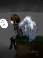 Depressed angel by pandapunk143