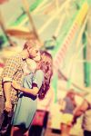 Ferris Wheel Kiss by RebekaPhotography