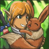 Link and Eevee by Jo-Onis