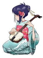 Shamisen sweetheart by lily-fox