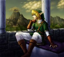 Link - Golden Contemplation by evion