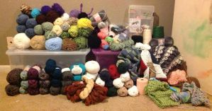 Yarn Stash by LittleMrsAdams