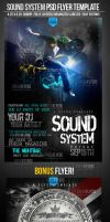 Sound System PSD Flyer Template by ImperialFlyers