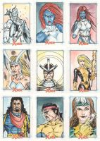 Xmen Archives Sketchcards 7 by Csyeung