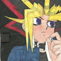 Atem thinking by Pyramidheadfreak