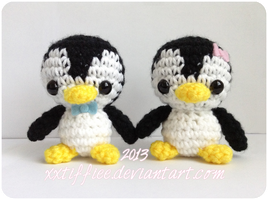 Baby Penguin Couple by xxtiffiee