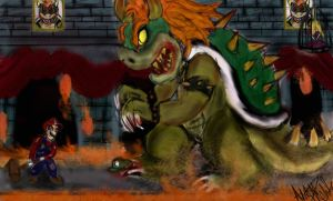 Mario vs Bowser by Jagsrock