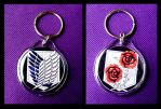 Attack on Titan Keychains by MischievousPooka