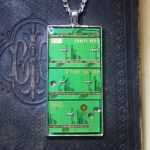 Circuitboard Pendant - Laptop Pieces by Llyzabeth